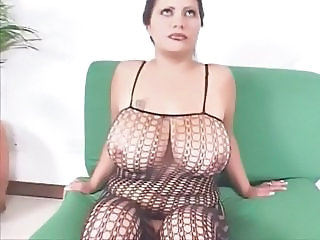 Fishnet Lingerie Natural Big Tits Chubby Big Tits Milf Fishnet