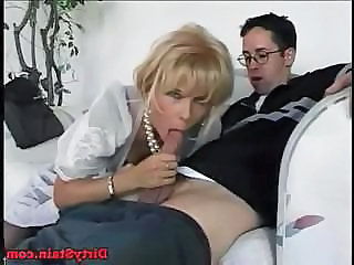 Neighbor boy fucks his best friend's blonde mom at her house