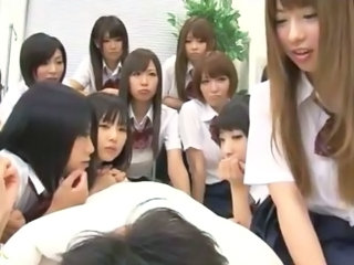 Big Japanese Schoolgirls Group Sex