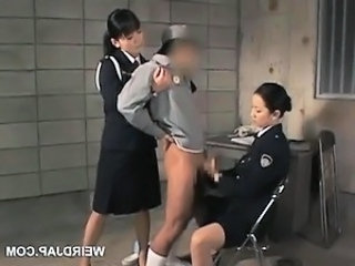 Video from: dr-tuber | Dick starved asian police women giving handjob in jail