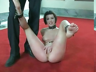 Hot pretty babe punished and fucked