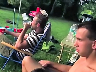Young cute couple fucking in outdoor