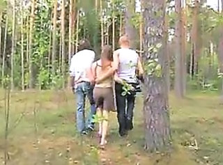 Outdoor Teen Threesome Amateur Teen Forest German Amateur