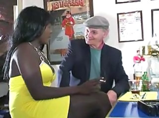 Drunk Daddy Ebony Daddy Old And Young Waitress