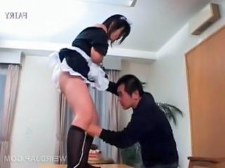 "Kinky mature asian maid gets hairy snatch vibrated"" class=""th-mov"