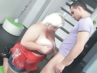 blonde bbwmilf drilled by amateur male