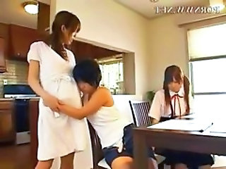 Family Japanese Threesome Family