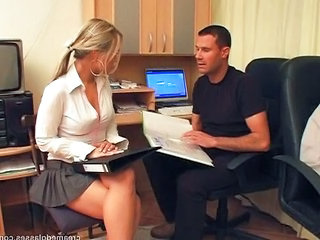 Office Pornstar Secretary Glasses Teen Office Teen Teen Ass