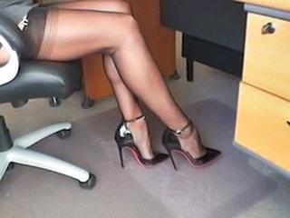 Legs Secretary Stockings Stockings