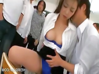 Dirty asian teacher drinks her squirt