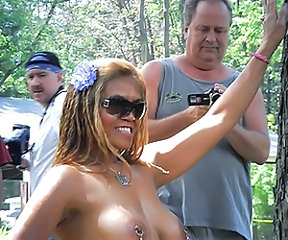 Piercing Nudist Ebony Outdoor Outdoor Amateur Public