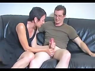 Shorthaired Granny loves Big Cock
