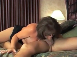 Dark hair MILF Bangs Daughter's Friend