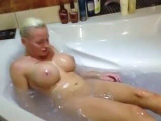 Aniela: Fake Tit Bimbo Takes A Bath