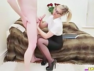 Glasses Handjob Office Babe Ass Beautiful Ass Beautiful Blowjob