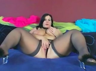 Masturbating MILF Stockings Babe Big Tits Babe Masturbating Bbw Masturb