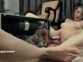 Young couple of babes using sex toys