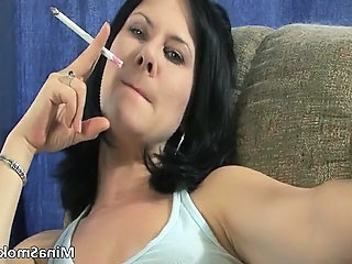 Slutty nasty brunette bitch rubbing