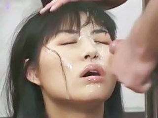 Bukkake with hot Japanese chick tubes