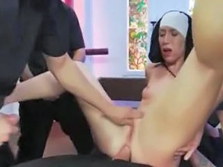 Catholic Nun Gangbanged by Priests Sex Tubes
