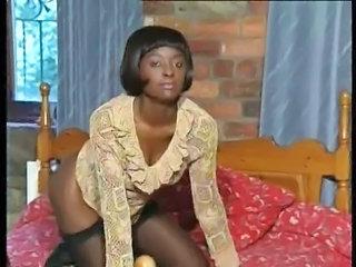 Vintage Ebony MILF Milf Stockings Stockings