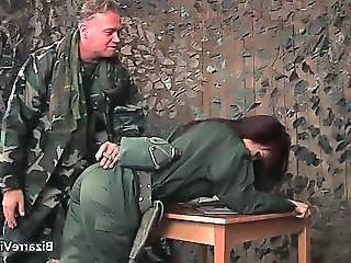 Army Uniform Doggystyle MILF
