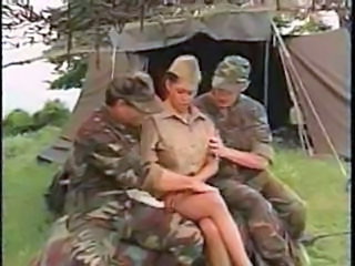 Army Uniform MILF Milf Threesome Outdoor Threesome Milf