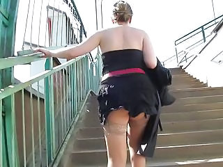 Public Upskirt Public Stockings Upskirt