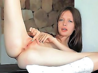 Clit Masturbation On The Table For You