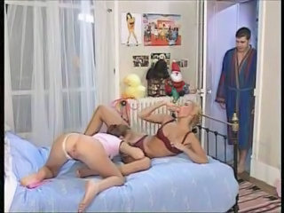 Threesome Old And Young Licking Milf Lingerie Milf Teen Milf Threesome