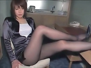 Japanese pantyhose fuck part