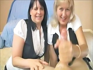 MILFS Enjoy Stroking A Nice Young Cock