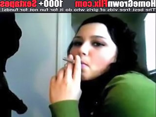 Spanish European Teen Smoking Teen Spanish Teen