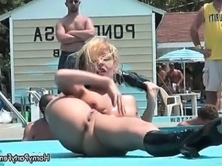 Nasty blonde slut goes crazy stripping part1