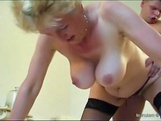Granny Doggystyle  Granny Stockings Stockings Tits Doggy