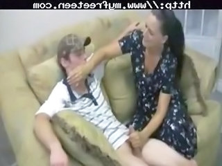 desperate mother gives handjob teenager young