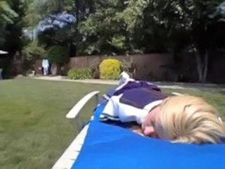 Cheerleader Outdoor Sleeping Cheerleader Outdoor Outdoor Teen