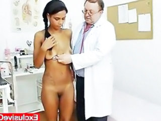 "Weird gyno doctor checks hot latina pussy"" target=""_blank"