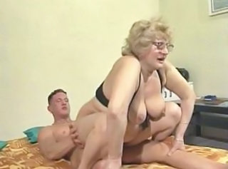 Glasses Granny Riding