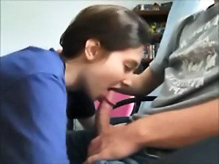 After School Blowjob and Swallow