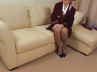 Sally Anal Masturbation in FF Stockings