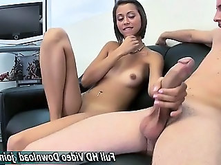 Teen handjob huge cock