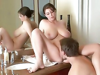 Bathroom Licking Chubby Bathroom Mom Bathroom Tits Big Cock Milf