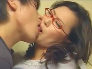 Mom Old And Young Kissing Asian Mature Glasses Mature Japanese Mature
