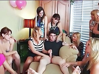 Handjob Party MILF