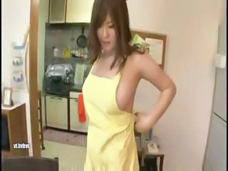 Busty Japanese wife gets her melons squeezed and an..