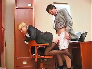 Clothed Doggystyle Office Foot Footjob Pantyhose