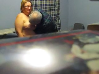 Older HiddenCam Voyeur Bbw Mature Bbw Wife Glasses Mature