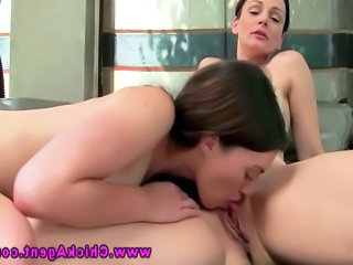 Porn auditions with dyke licking and BJ in this HD video