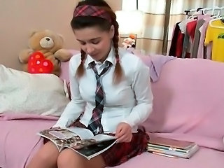 Teen Pigtail Uniform Pigtail Teen School Teen Schoolgirl
